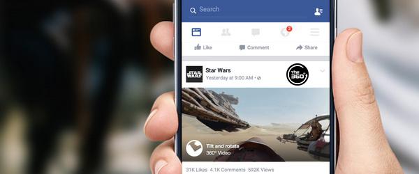 Facebook запустил поддержку панорамного видео 360 градусов