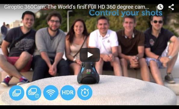 Камера Giroptic 360cam: Панорамное видео 360 градусов